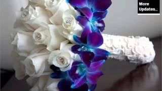 Blue Orchid Flower Bouquet   Beautiful Orchid Flower Image Ideas