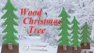 How to make a DIY Wood miniature Christmas Tree
