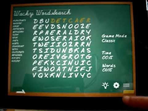 Wacky WordSearch iPhone, iPod, iPad App PREVIEW