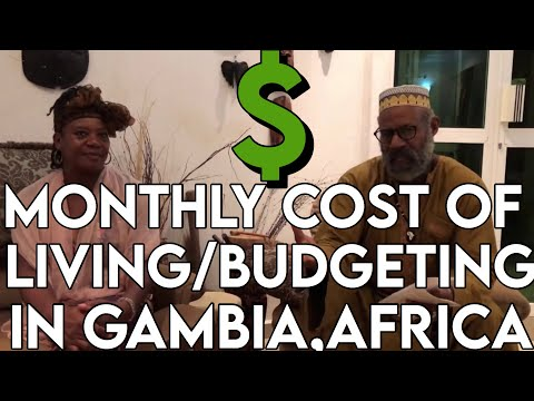 Monthly cost of living/budgeting in The Gambia