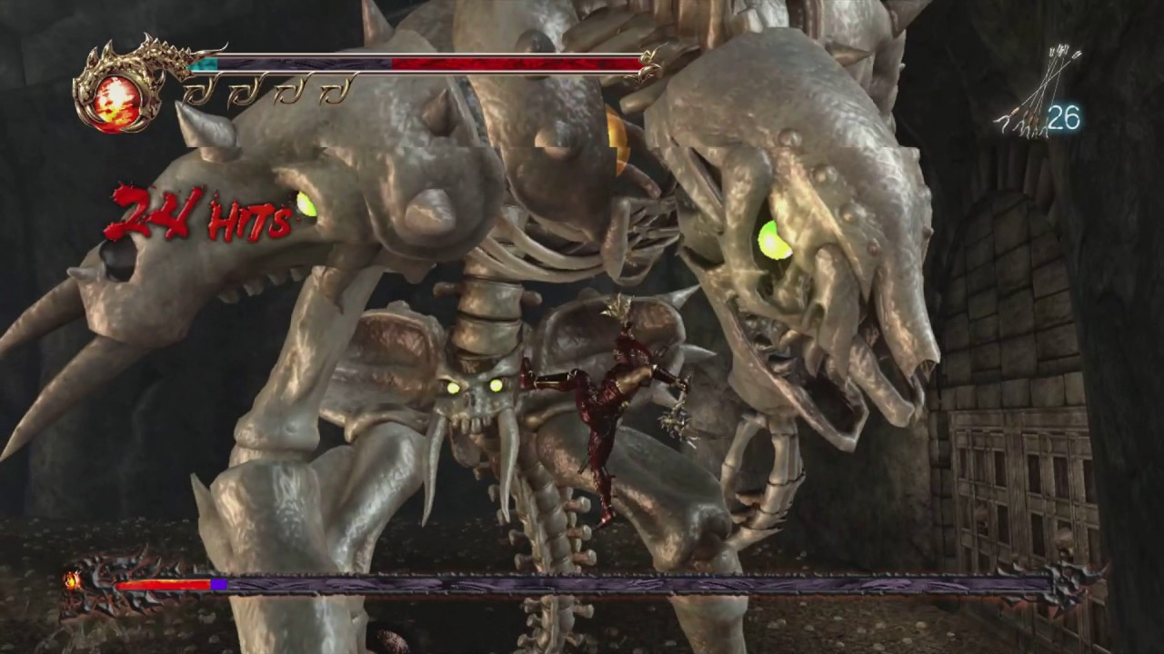 Ninja Gaiden 2 Chapter 6 Giant Skeleton Boss Path Of The