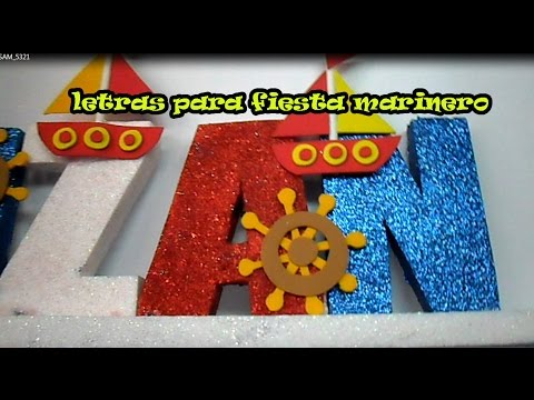 Manualidades Estilo Marinero.Letras Estilo Marinero Youtube