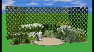 зеленый цветник - схема и визуализация