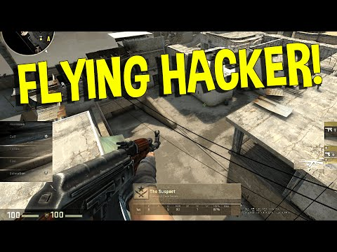 CS:GO - FLYING HACKER (OVERWATCH FUNNY MOMENTS)