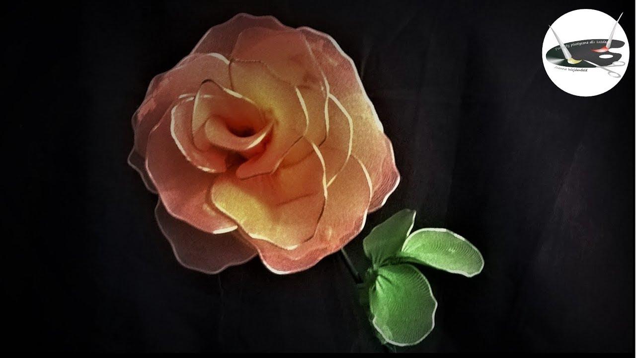 Jak prosto zrobić kwiat z rajstop - róża