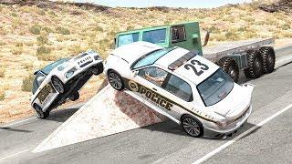 Crazy Police Chases #70 - BeamNG Drive Crashes