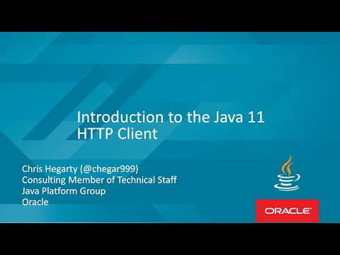 Introduction to the Java 11 HTTP Client with Chris Hegarty
