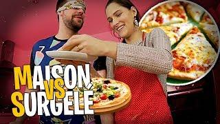 Pizza recette maison VS surgelé les yeux bandés, que va préférer Valouzz ? #3 ❄️