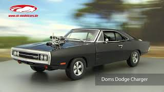 ck-modelcars-video: Doms Dodge Charger aus dem Film Fast and Furious 2001 Baujahr 1970 Greenlight