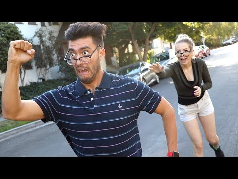 HE HAD TO RUN FOR HIS LIFE!! (Hot Girl)
