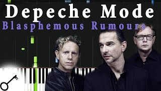 Depeche Mode - Blasphemous Rumours [Piano Tutorial] Synthesia