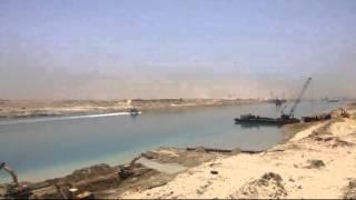 قناة السويس السويس: مشهد عام وحصرى لأعمال التدبيش فى منطقة المنصة