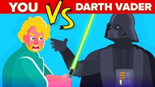 YOU vs Darth Vader - How Can You Defeat and Survive Him (Disney Star Wars Movies)