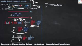16 - Modéle de Bohr Démonstration de Loi de Ritz - Atomistique S1