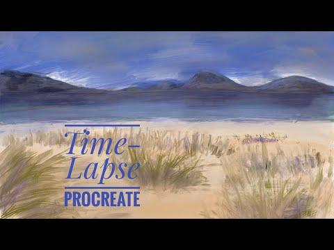 Luskentyre Beach | Procreate Digital Painting | Timelapse
