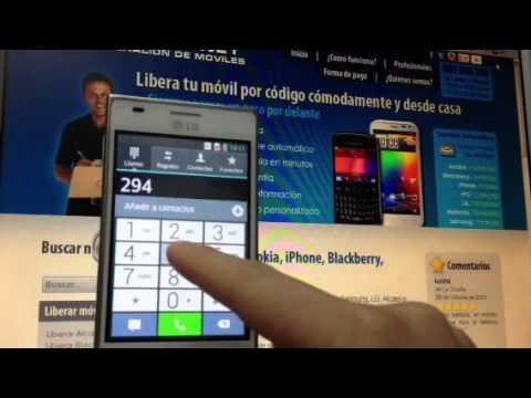 Liberar lg e610 optimus l5 por c digo movical net youtube - Movical net liberar ...