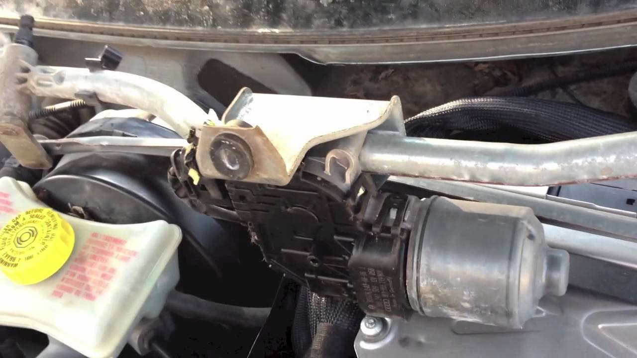 how to replace the wiper linkage  transmission on your audi