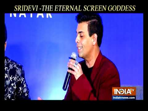 Director Karan Johar launches a book on Sridevi titled 'Sridevi The Eternal Screen Goddess'