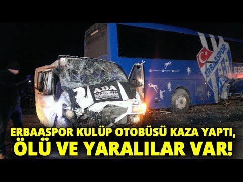 Erbaaspor'a Ait Yolcu Otobüsüyle İki Araç Çarpıştı:1 Ölü, 3 Yaralı