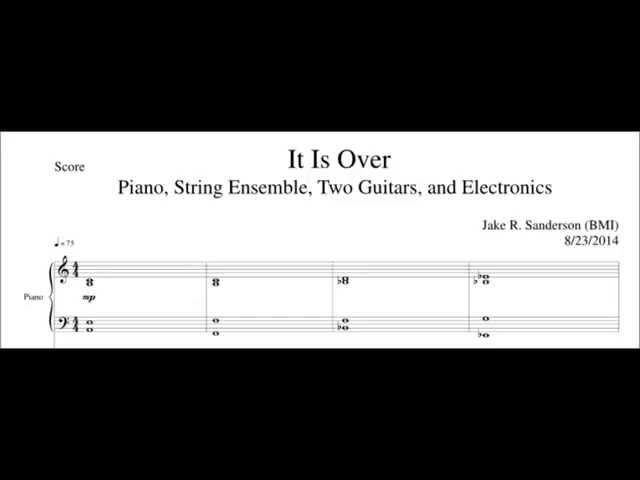 It is Over - Film Score WITH SHEET MUSIC (Film Score/Minimalism)