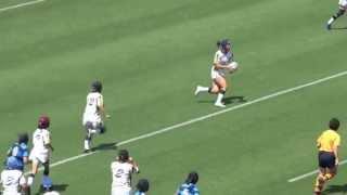 2013年7月7日秩父宮ラグビー場で開催された大学生女子 7人制交流試合の...