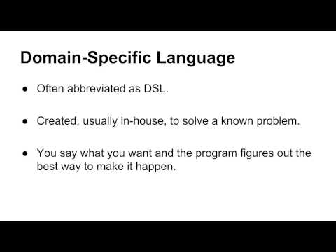 Programming Vocabulary: Domain-specific languages