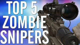 """*NEW* """"Top 5 ZOMBIE Snipers""""/""""Top 5 ZOMBIE Sniper Rifles""""! All Snipers from """"WaW, Bo & Bo2""""!"""