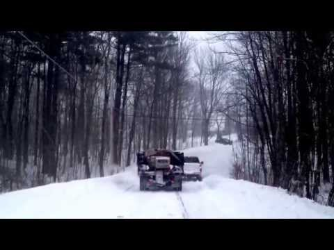 How Rednecks Pull Trucks up Icy Hills in NH