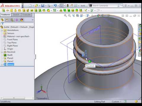 how to make thread in solidwork