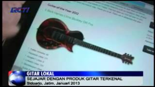 "iProud - Rick Hanes: Gitar Made in Sidoarjo yang Meraih Gelar ""Guitar of The Year 2012″"