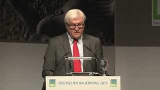 """Frank-Walter Steinmeier: """"Neuer agrarpolitischer Konsens"""""""