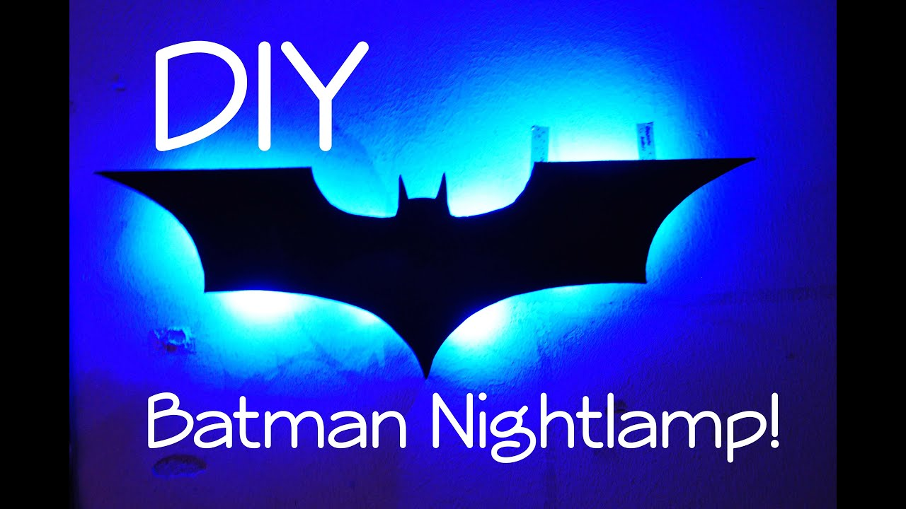Batman night lamp diy youtube aloadofball Images