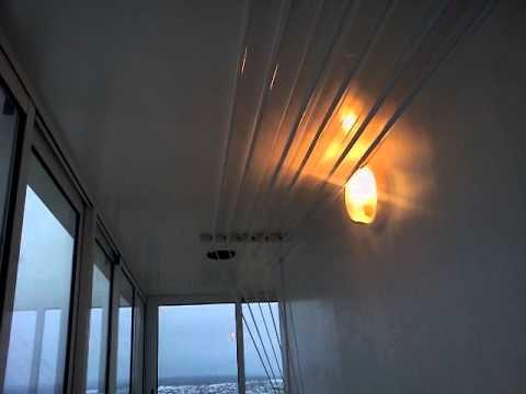 Угловой балкон. - youtube.