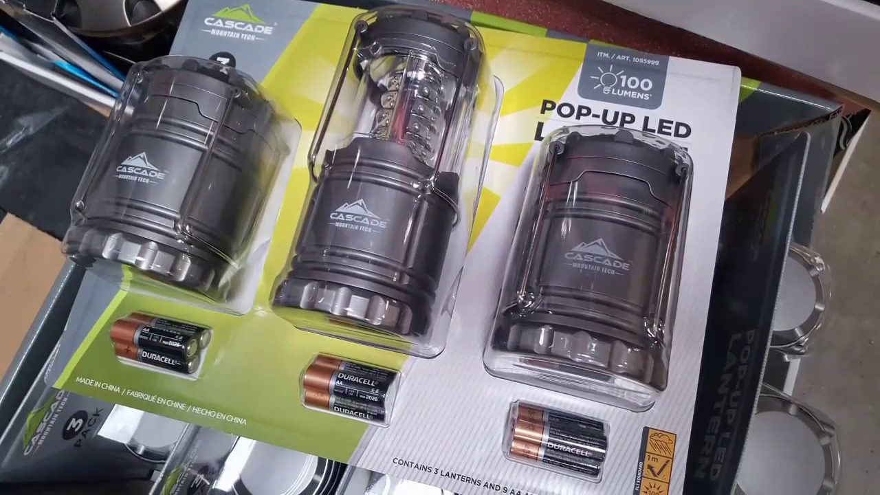Costco! Pop Up LED Lantern 3 Pack! $17! Review! Or $2 At