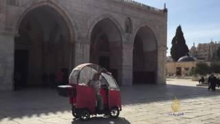 القدس- مسنون بالسيارات الكهربائية في الأقصى