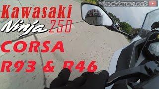 058 test cornering corsa r93 r46 kawasaki ninja 250fi ft cbr150r   vlog arogan