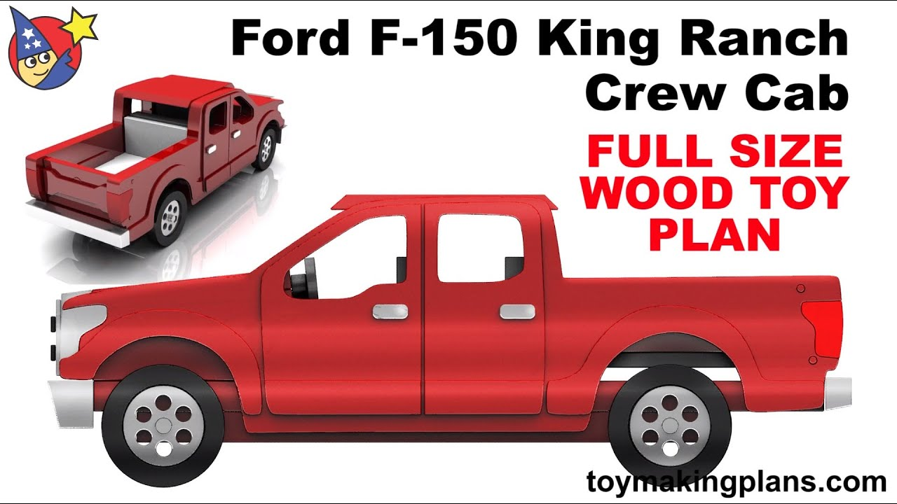 2016 F150 King Ranch >> Wood Toy Plans - Ford F 150 King Ranch Crew Cab - YouTube