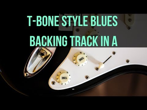 T-Bone Style Blues Backing Track in A (110 BPM)