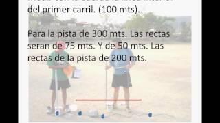 COMO PINTAR UNA PISTA DE ATLETISMO DE 400, 300 Y 200 METROS.