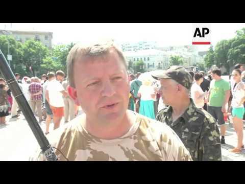 Reaction from Sophia Square to Poroshenko's inauguration