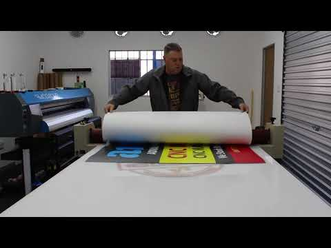 Chromadek Sheet Sign with Laminated Vinyl that Printed on FastCOLOUR Large Format Printer