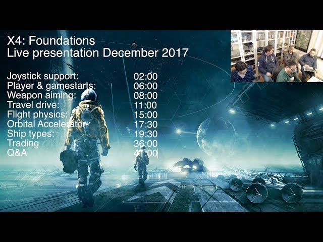 X4:Foundations Dec.2017 Update and Q&A Livestream
