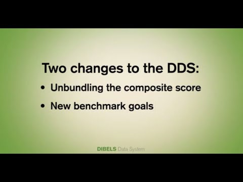 New Features And Benchmark Goals Video UO DIBELS Data System