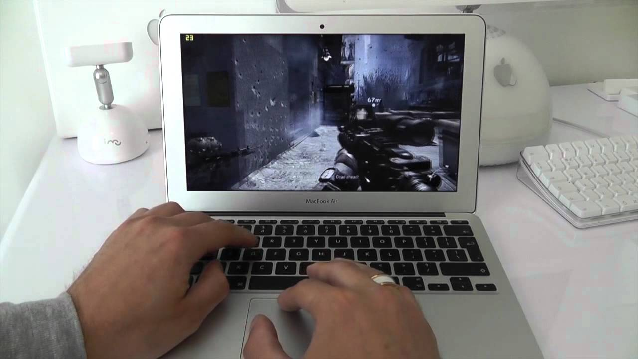 MacBook Air 2012 COD MW3 Gaming Test HD4000 Graphics - YouTube