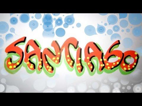 Letra timoteo nombre decorado Santiago - YouTube