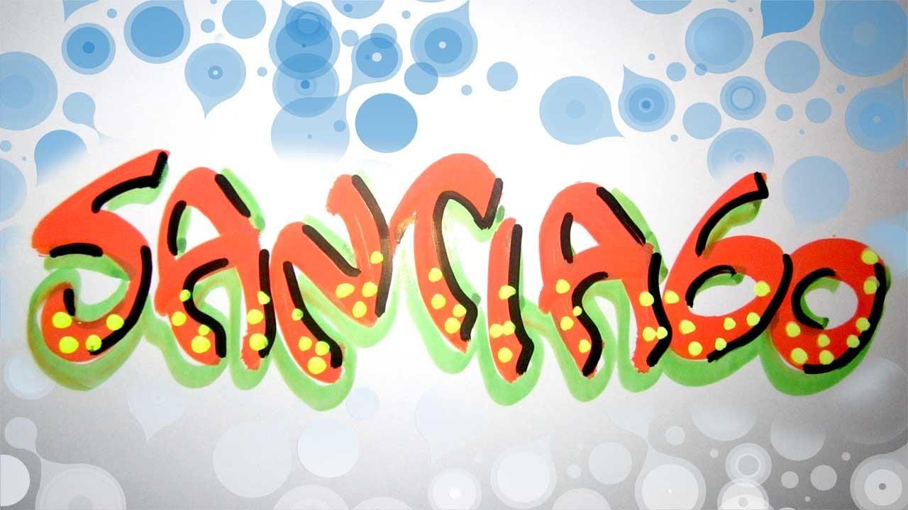 Letra timoteo nombre decorado santiago youtube for Imagenes de techos decorados