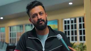 Atif Aslam singing without music - Tere Sang Yaara (2 lines)