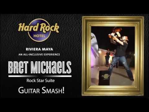 Bret Michaels Rock Star Suite Guitar Smash