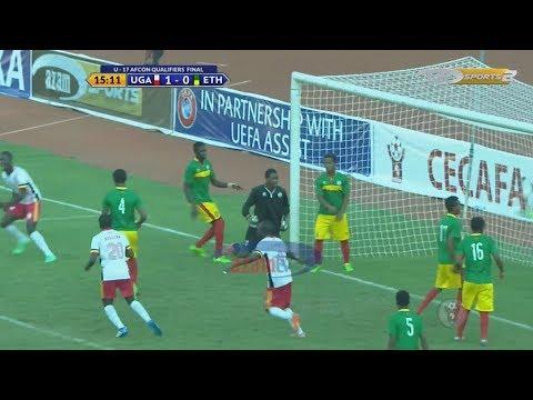 MAGOLI YOTE: UGANDA 3-1 ETHIOPIA (FAINALI - CECAFA U17 AFCON QUALIFIER)