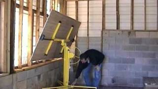 Dry Wall lift Assembly .wmv